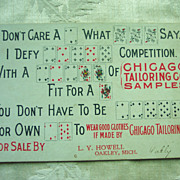 "Chicago Tailoring Co. ""Puzzle"" Advertising Card"