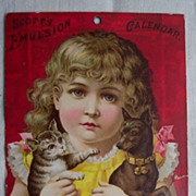 Scotts Emulsion Calendar - 1888