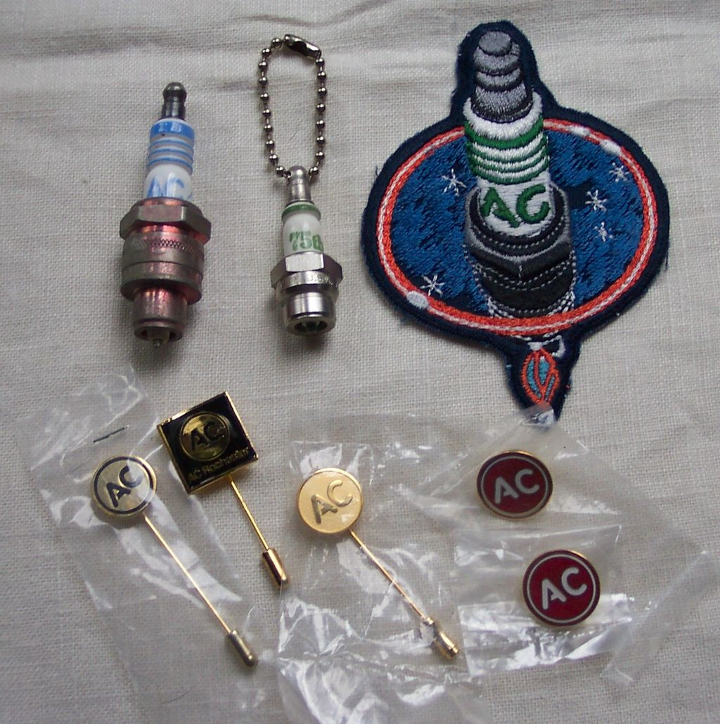 Lot of AC Spark Plug  Memorabilia