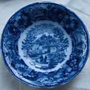 Adams Blue Transferware Bowl - Late 1800's