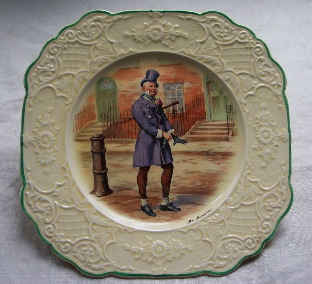 Wedgwood Dickens &quot;Mr. Micawber&quot; Plate