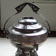 Victorian Silverplate Butter Dish