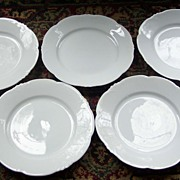 SALE Set of Five Hasburg China Dessert Plates - Austria