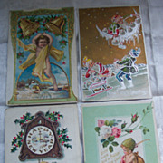 Lot of Five New Years Postcards - Early 1900's
