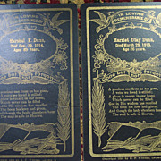 SOLD Husband and Wife Memorial Cards -  1913-1914