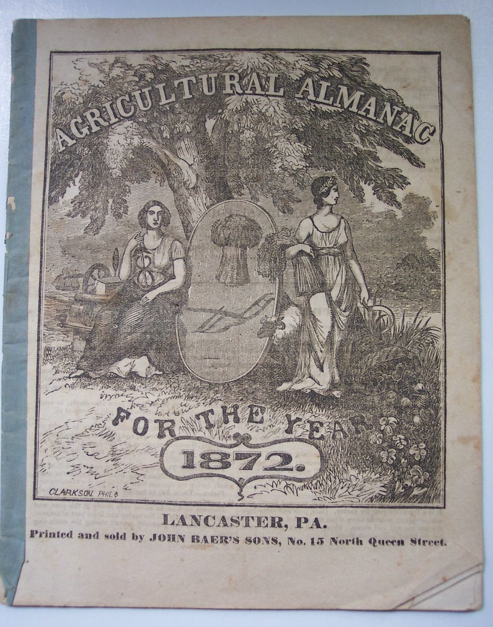 Agricultural Almanac for the Year 1872