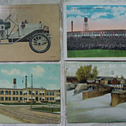 Flint Michigan Real Photo Postcards - Set of 4 - Early 1900's