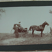 Couple with Horse and Buggy Cabinet Card