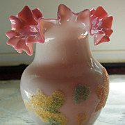 Blown Glass Vase with Coralene Decoration