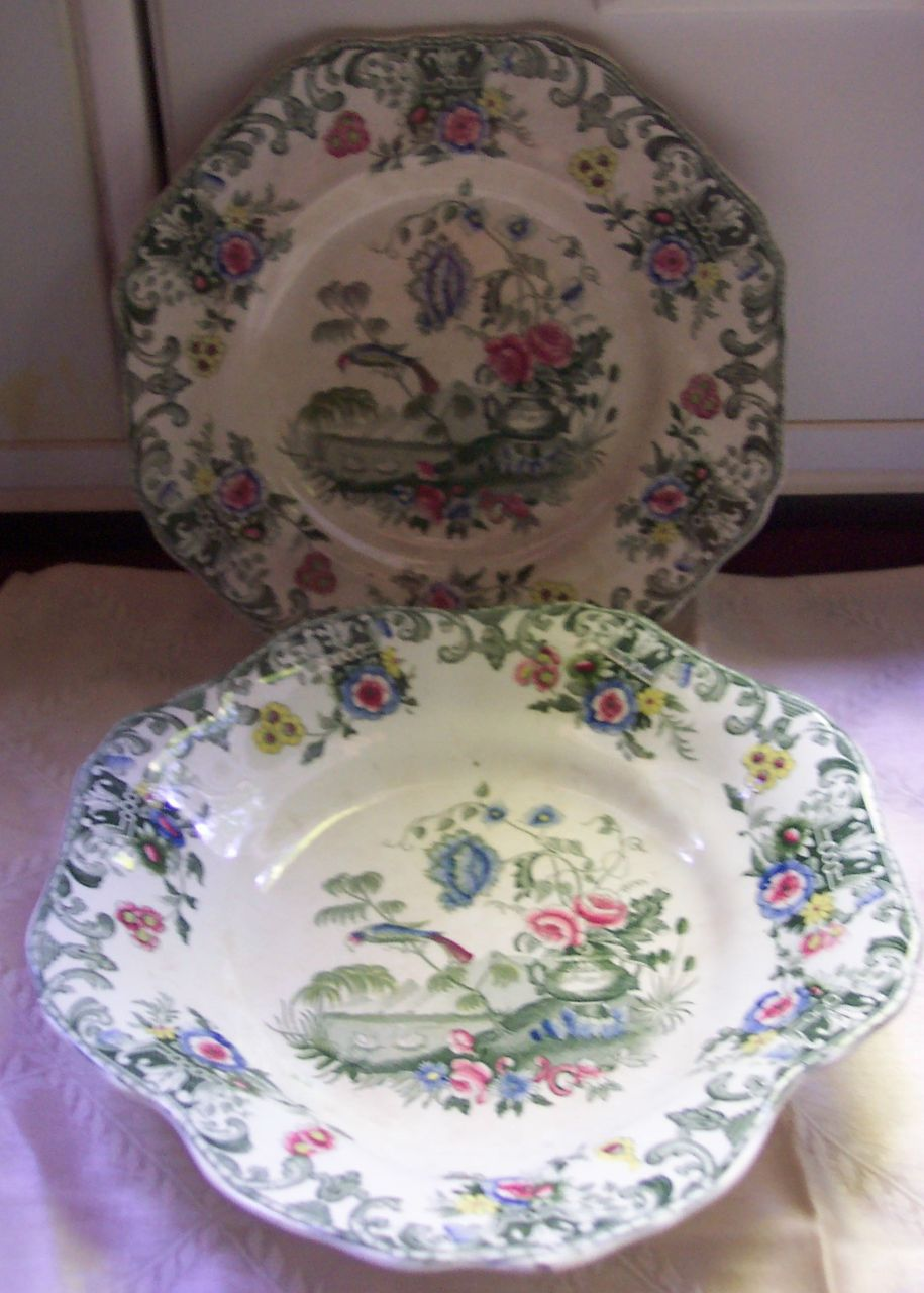 "Two Pieces Spode ""New Fayence""-  1820 - 1833"