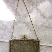Whiting Davis Goldtone Micro Mesh Purse - 1920's