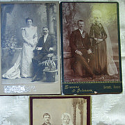 """Set of Three ""Beautiful Brides"" Cabinet Cards - Late 1800's"