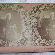Queen Victoria Stereo view Card - 1900