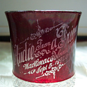 SOLD Ruby Stained Souvenir - 1897