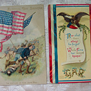 GAR and Memorial Day  Souvenir Postcards - Early 1900's