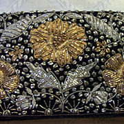SALE Vintage Indian Velvet Ornate Clutch