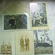 SOLD Real Photo Men and Woman with Dogs Postcards - Early 1900's