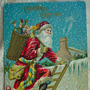 REDUCED Santa Climbing a Ladder - Early 1900's