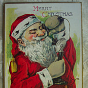REDUCED Santa Talking on the Telephone - 1923