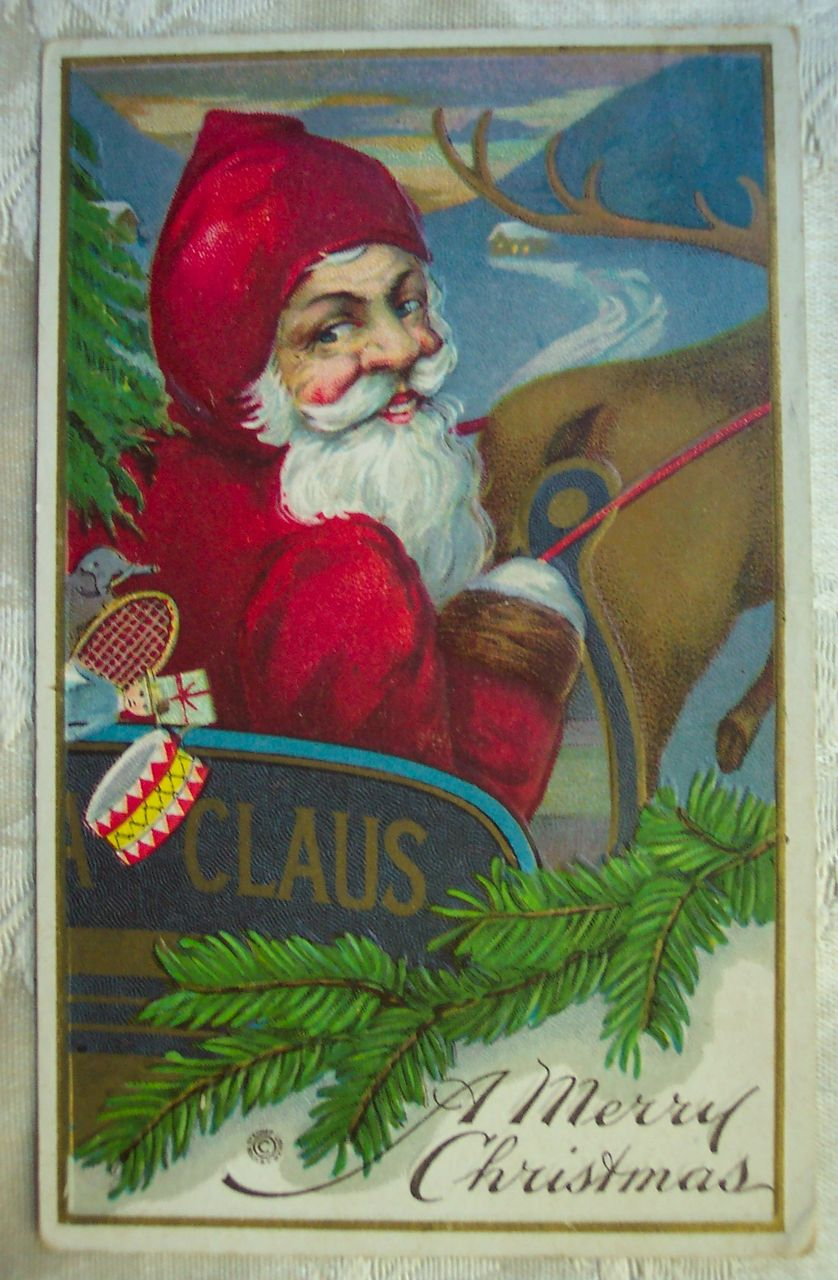 Santa Looking Back - 1920