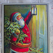 REDUCED Santa Holding a Light - 1908