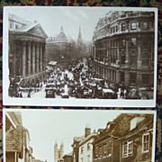 Town View of London England and Ashford, Kent - Early 1900's