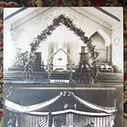 Set of Two Church Interiors - 1910