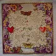 3 D Valentine with Lace and Butterflies