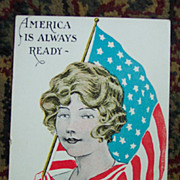 America Is Always Ready Patriotic Postcard
