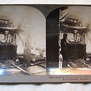 Coal Car Ready to be Dumped Stereoview Card