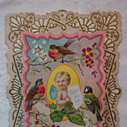 Pop-Up Valentine with Cherub and Birds