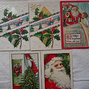 Lot #9 of Santa Postcards - Early 1900's