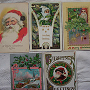 Lot # 14 of Santa's - Early 1900's