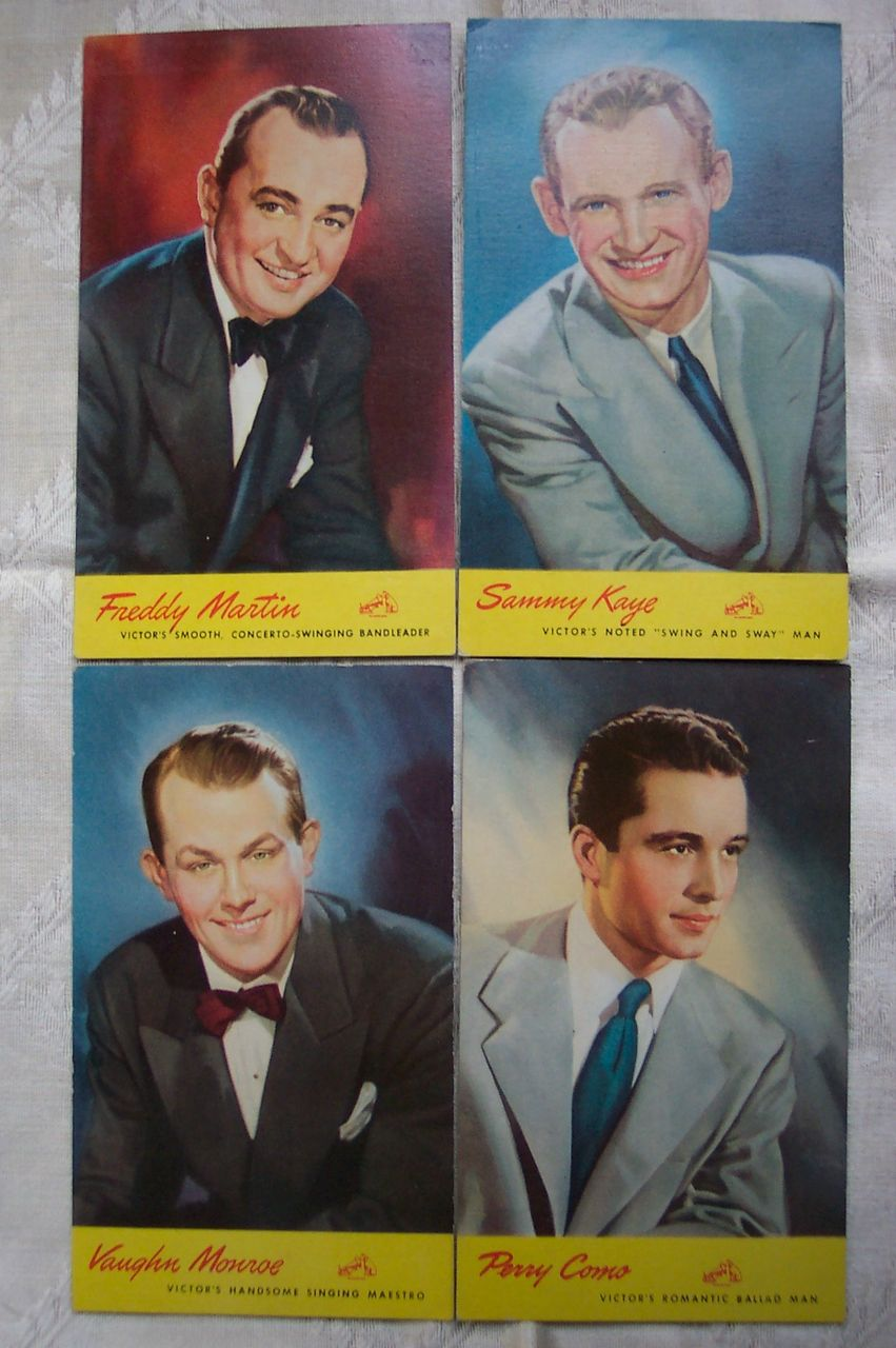 RCA Victor Artist Promotional Postcards - 1940's Set 2