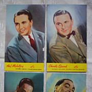 RCA Victor Artist Promotional Postcards - 1940's Set 3
