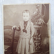 """Scary"" Child Cabinet Card - Early 1900's"