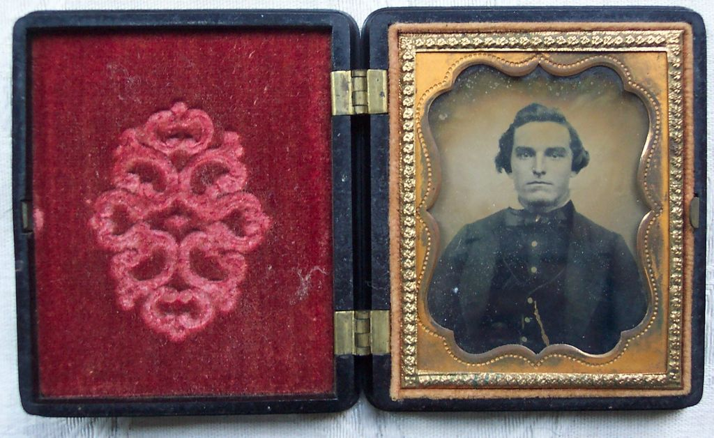 Ambrotype of Young Man in Gutta Percha Union Case -  1855-1865
