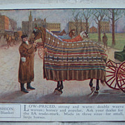5A Fashion Horse Blanket Advertising Postcard - 1911
