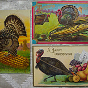 Set # 5 of Thanksgiving Postcards - Early 1900's