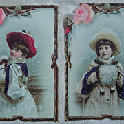 Set of Two Reward of Merit  Cards