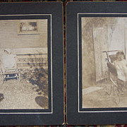 """Margaret "" in Her Baby Buggy Cabinet Cards"