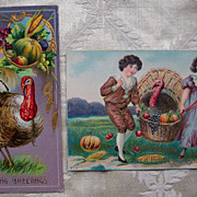 Set # 2 of Thanksgiving Postcard - Early 1900's