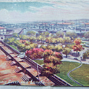 Tucks Advertising Postcard for Chase-Hackley Piano Co. - Pasig River and Luneta