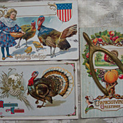 Set # 6 of Thanksgiving Postcard - Early 1900's
