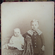 &quot;Adell and Walter&quot; Cabinet Card - 1885 - Unusual Back
