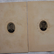 Pr of Two Gem Tintypes