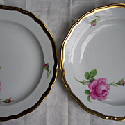 Pair of Meissen Hand Painted Plates