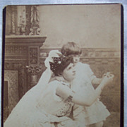 Little Girl and Teacher Cabinet Card