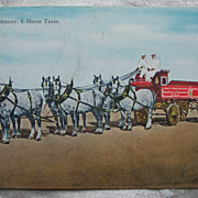 Swift and Co. 6 Horse Team Postcard