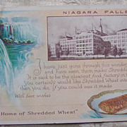 Shredded Wheat Advertising Postcard